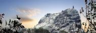 望儿山雪景