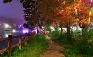 神水湖畔夜色